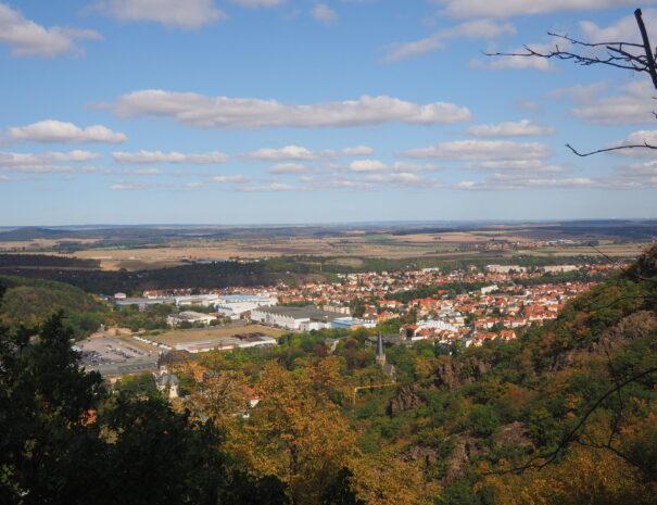 Ausblick auf Thale vom Hexentanzplatz